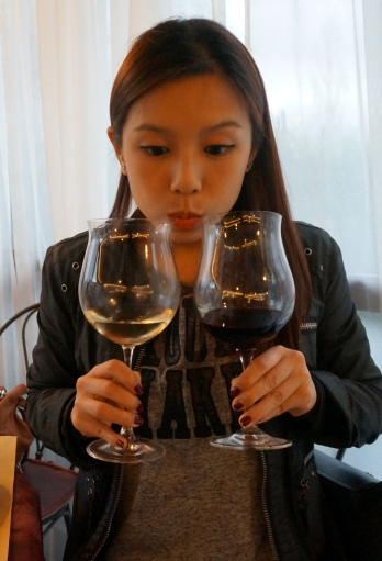 Me at a wine tasting in Tuscany