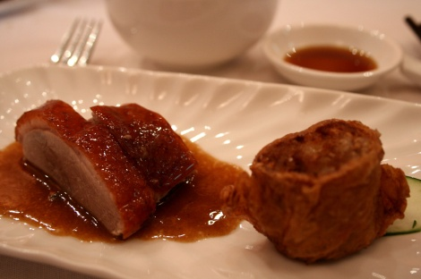 Signature Golden Roast Duck and Teochew Five Spices Meat Roll