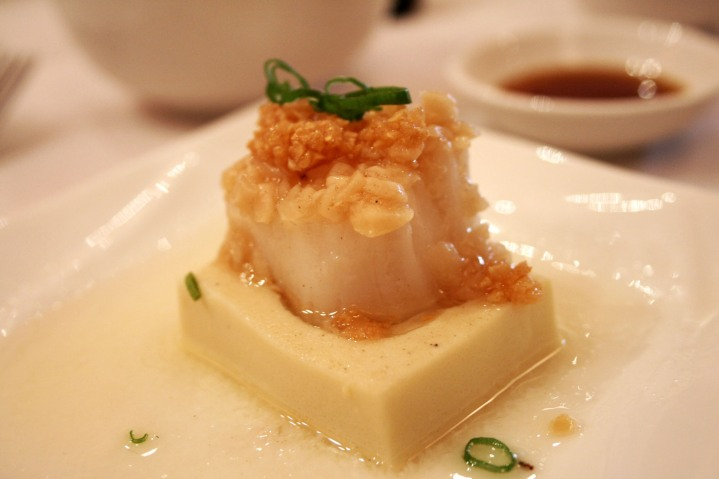Garlic Steamed Fresh Scallop with Tofu