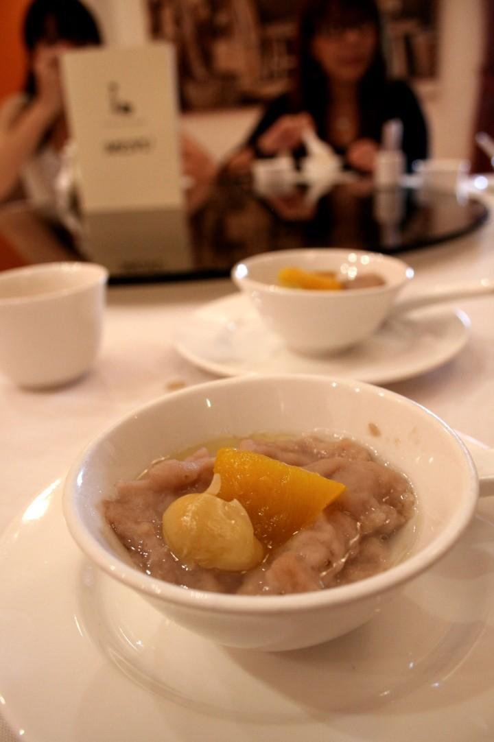 "Taro Paste ""Orni"" with Pumpkin and Ginko Nuts"