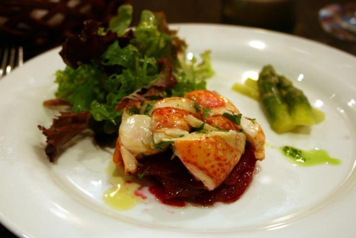 The lobster starter mmm