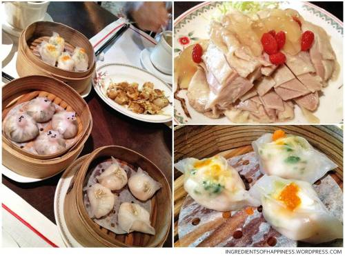 Various dim sum items and appetizers