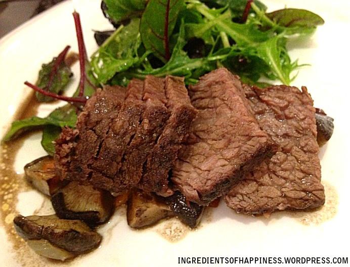 Beef Bourguignon with Mixed Salad and Potato Au Gratin