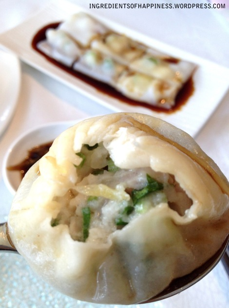 A Steamed Shanghai Meat Dumpling and the Scallop Rice Rolls