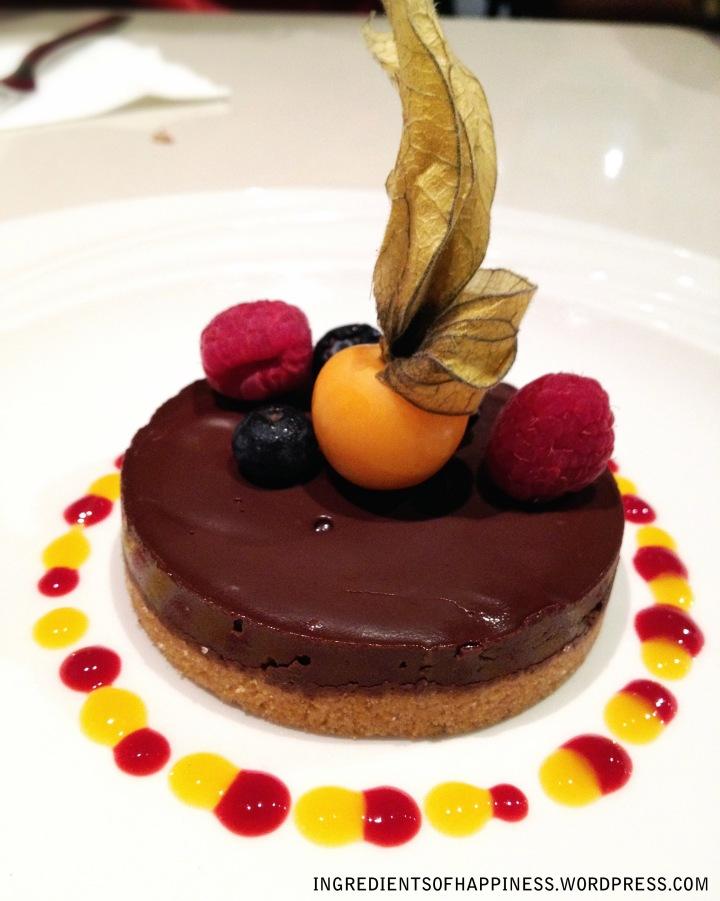 The Valrhona Chocolate Royale tart