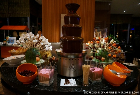 Chocolate fountains get me excited!