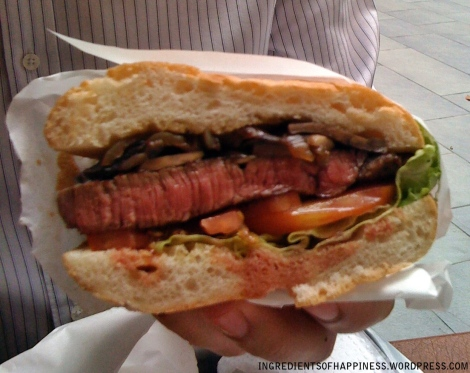 Meet the lovely steak sandwich