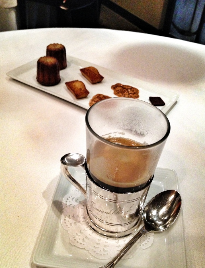 The lovely house made petit fours and coffee