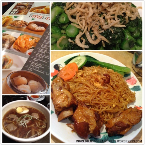 Some of the food from Xin Wang Hong Kong Cafe - bottom right: Special Pork Rib Beehoon