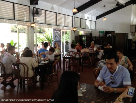 The main dining area of Rider's