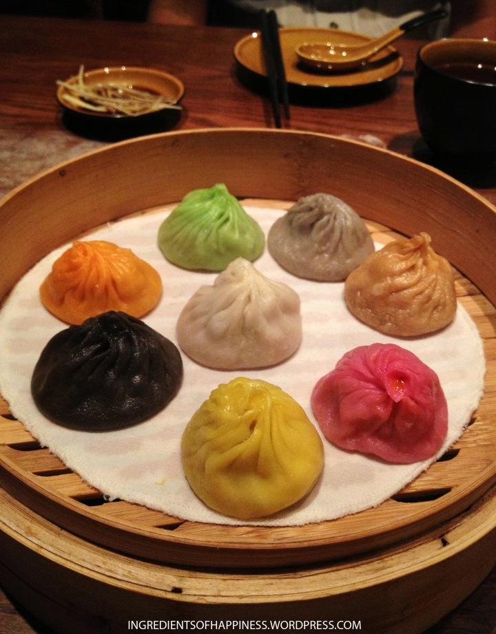 The beautiful multi-coloured dumplings!