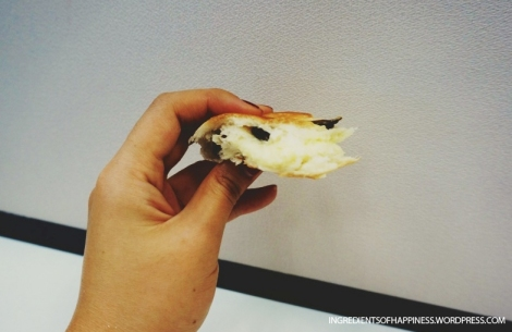 The light and fluffy bun filled with yummy cream cheese