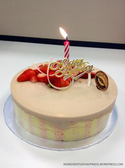 The delectable Strawberry Tiramisu cake