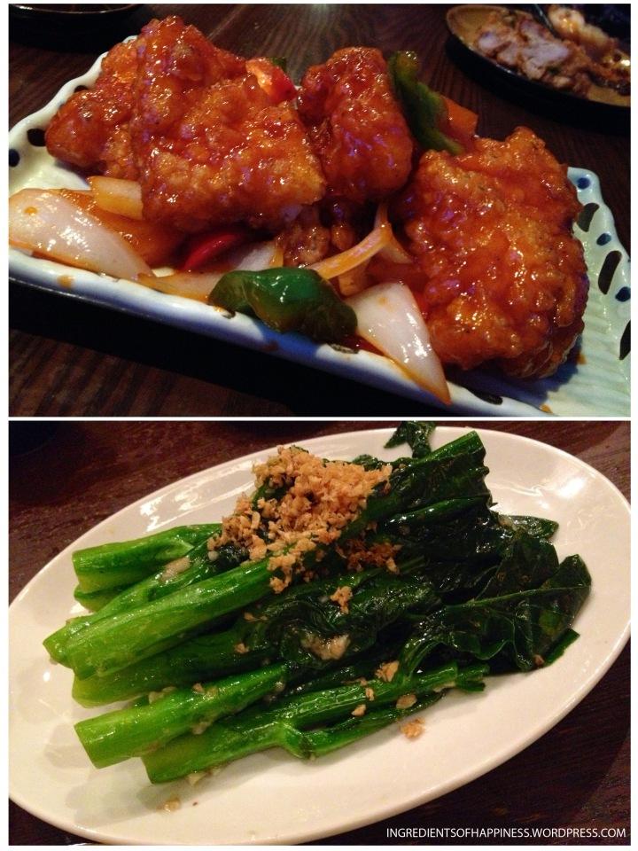 Sweet and Sour Fish and Garlic Kailan