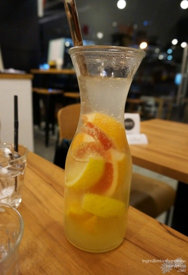The lemon, grapefruit and orange fruit cooler
