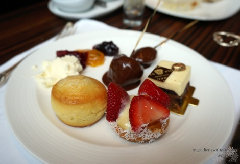 Another plate of desserts