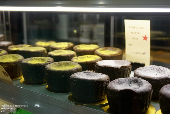 Pretty little cakes on display