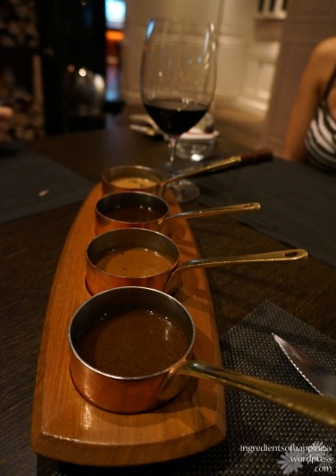 The sauces which accompanied the steak