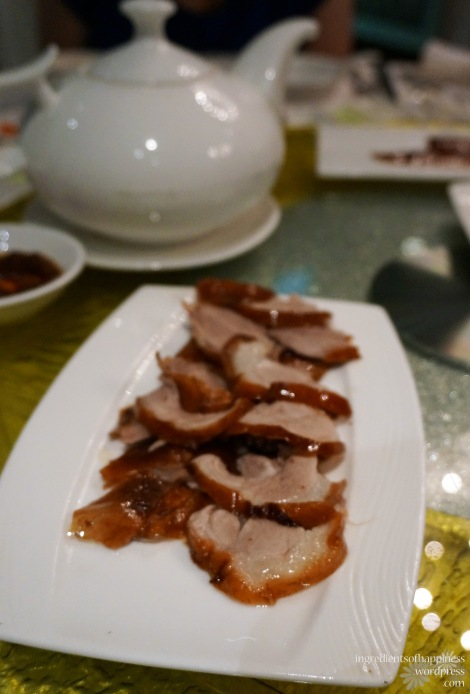 Second round of duck - thinly sliced thigh meat