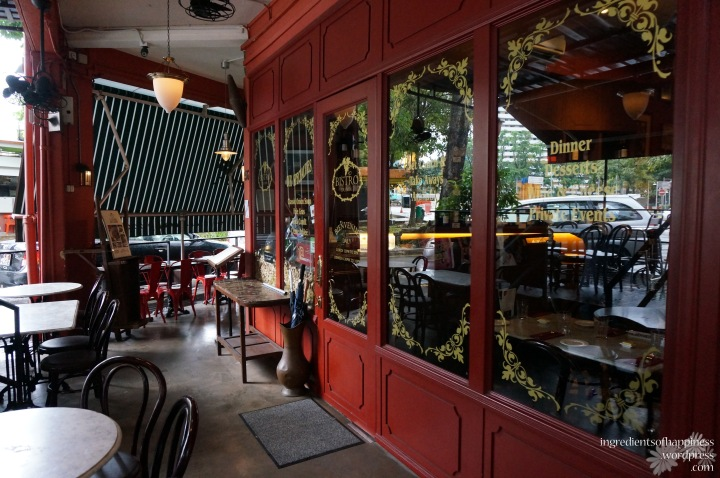 The quaint little French restaurant Bistro Du Vin