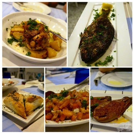 Some of the delicious starters and mains that we tried
