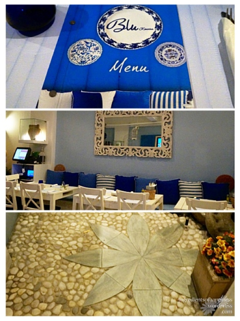 Inside Blu Kouzina - lovely Greek feel