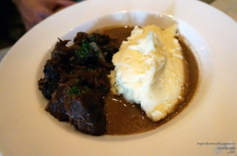 Stewed Pork Cheeks with Mash Potato