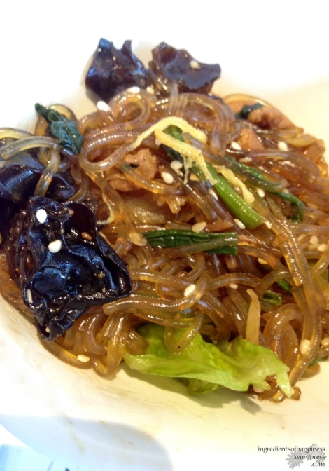 Loved the fried glass noodles... which had wood ear fungus, which I adore!