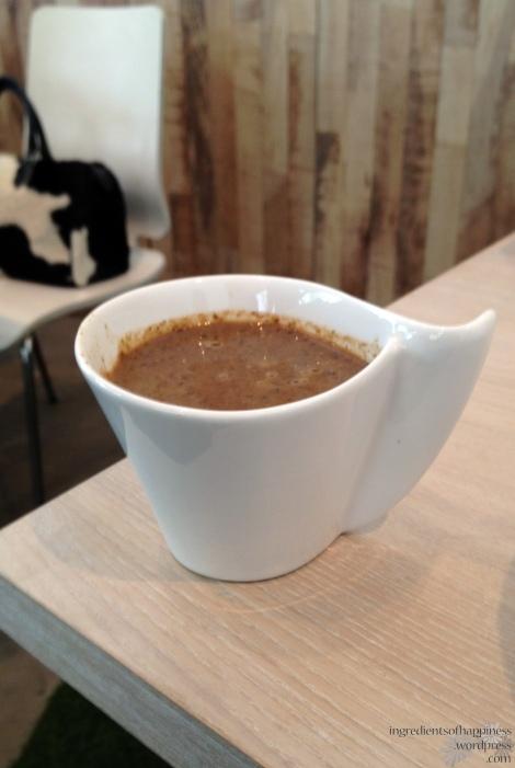 A mushroom soup shot