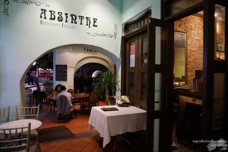 The lovely Absinthe Restaurant
