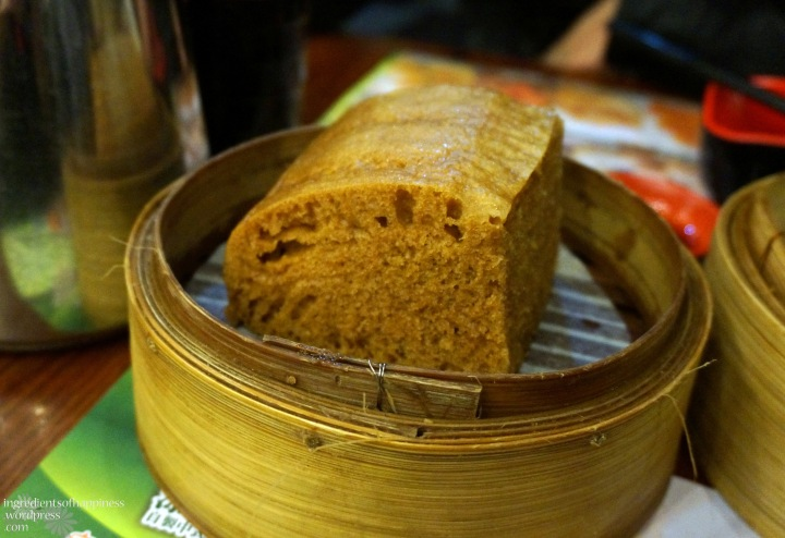 The fluffy steamed Malay Cake