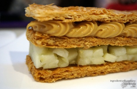 The stunning Caramel Apple Mille Feuille