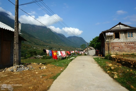 Trekking through small villages