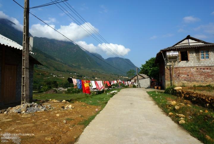 Trekking through small villages