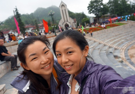 Walking around Sapa town