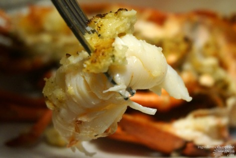 The juicy, plump lobster meat