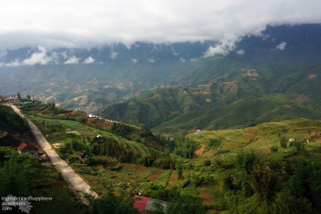 View from the town at The Sapa Sisters lodge, before embarking on our trek