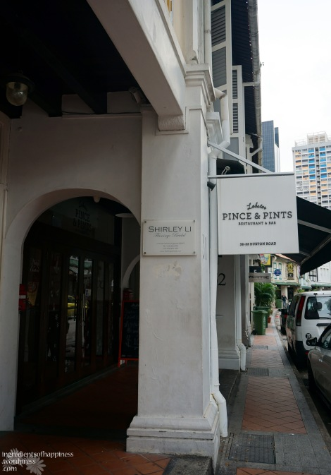 Pince and Pints is along Duxton Road