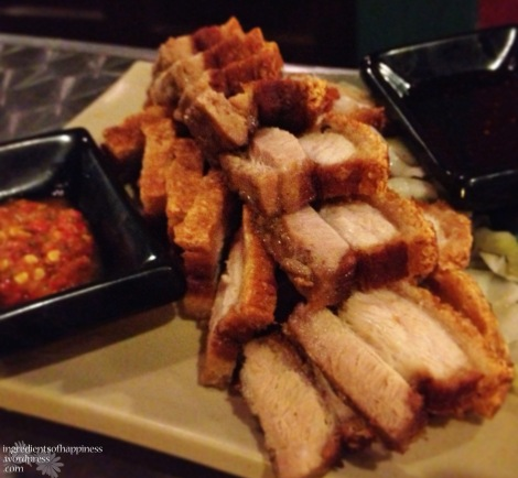 The absolutely scrumptious roast pork at New Harbour Cafe & Bar