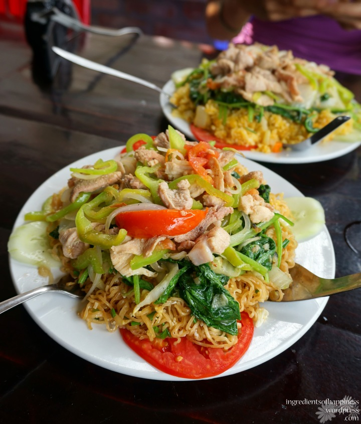 Delicious fried Vietnamese noodles for lunch yum
