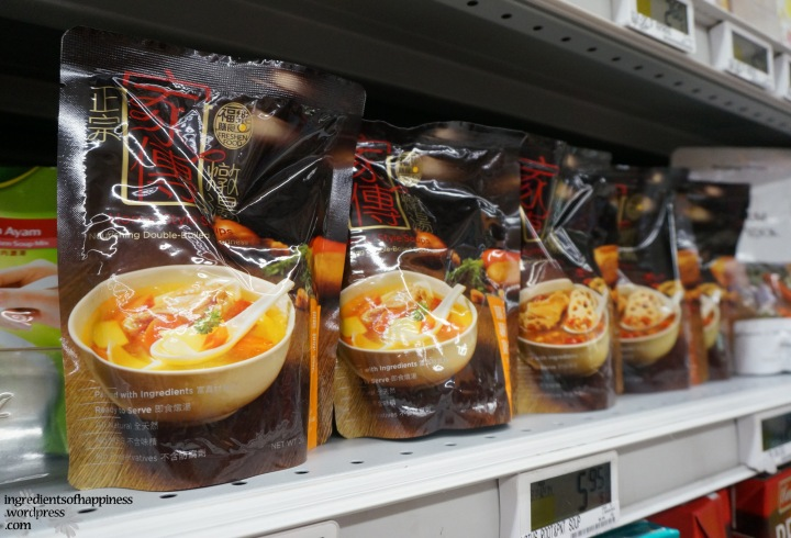 The packaged soups at NTUC