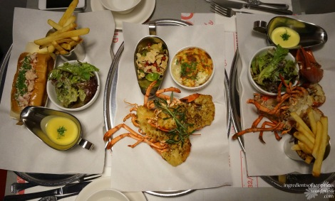 The glory of three lobster dishes
