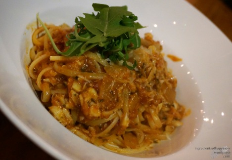 The nicely portioned Crabmeat Linguine