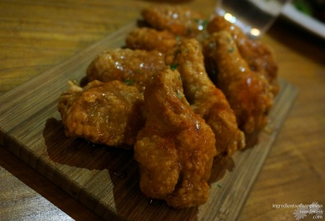 The delicious crispy honey wings!