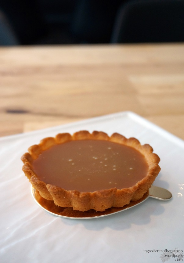 The yummy , gooey salted caramel tart
