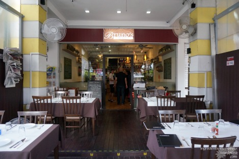 The lovely neighbourhood Italian place Bruno's Bistrot