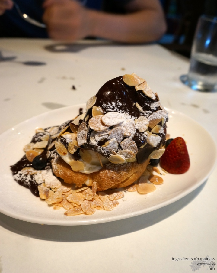 The leaning tower of Bruno's Profiterole