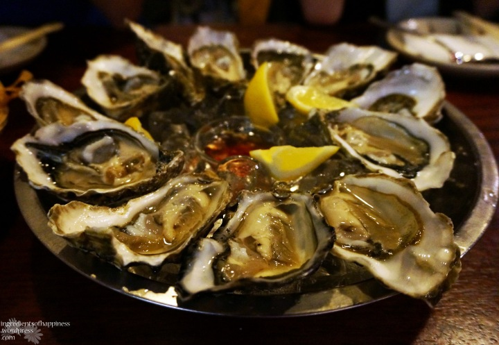Affordable oysters, served on a bed of ice!