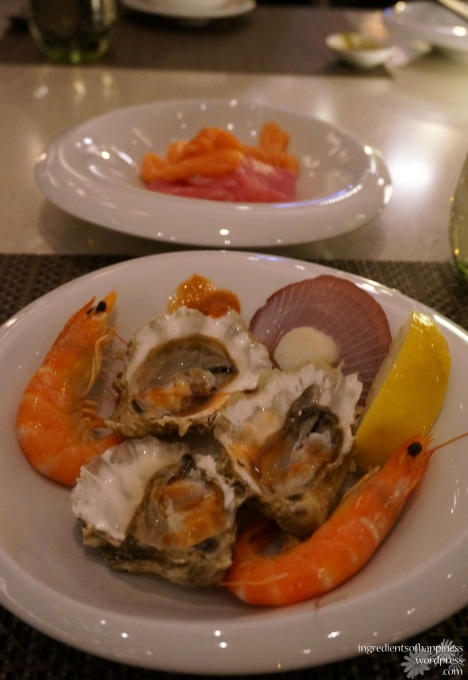 Succulent fresh seafood and sashimi