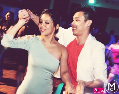 Social dancing at the Salsaholics Singapore event in 2013